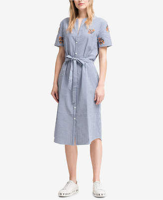 DKNY Cotton Embroidered Shirtdress, Created for Macy's