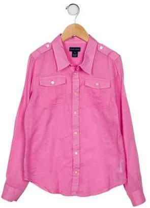 Ralph Lauren Boys' Long Sleeve Button-Up Shirt