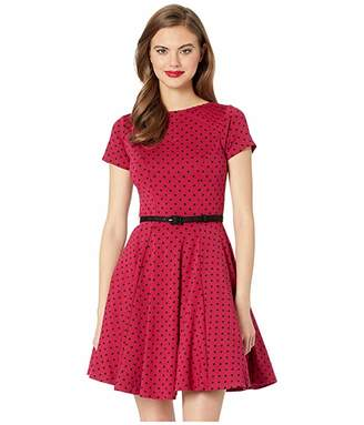 Unique Vintage Short Sleeve Fit Flare Dress