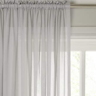 John Lewis & Partners Plain Cotton Slot Top Voile Panel