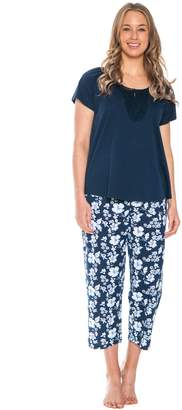 Patricia from Paris Women's Cotton Capri Pajama Set