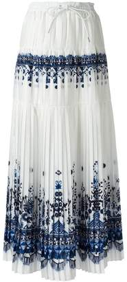 Sacai tribal lace maxi skirt