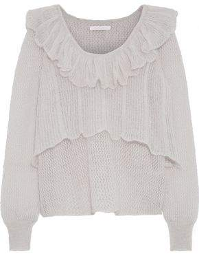 See by Chloe Layered Crochet-knit Mohair-blend Sweater