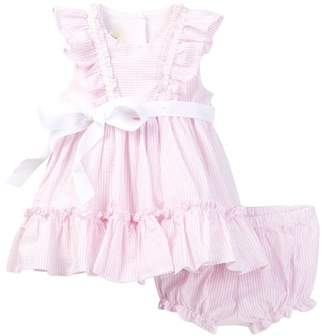 Laura Ashley Striped Dress Set (Baby Girls) $78 thestylecure.com