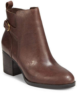 Lauren Ralph Lauren Side Zip Leather Booties