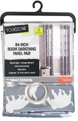 Your Zone Dino Days Grommet Room Darkening Juvi Panel Pairs
