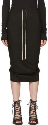 Rick Owens Black Soft Short Pillar Skirt