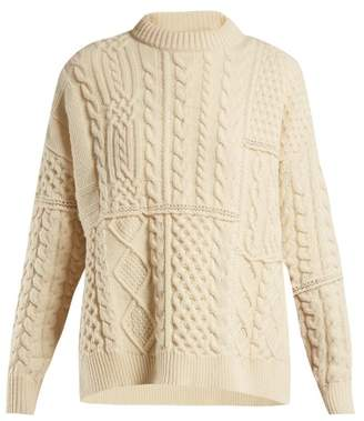 Golden Goose Rochere Cable Knit Wool Sweater - Womens - White