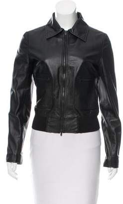 Geren Ford Leather Zip-Up Jacket