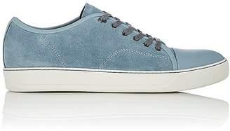 Lanvin Men's Suede Cap-Toe Sneakers