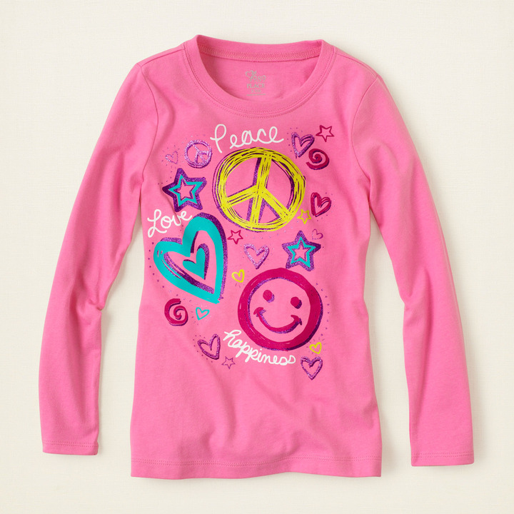 Children's Place Peace love graphic tee
