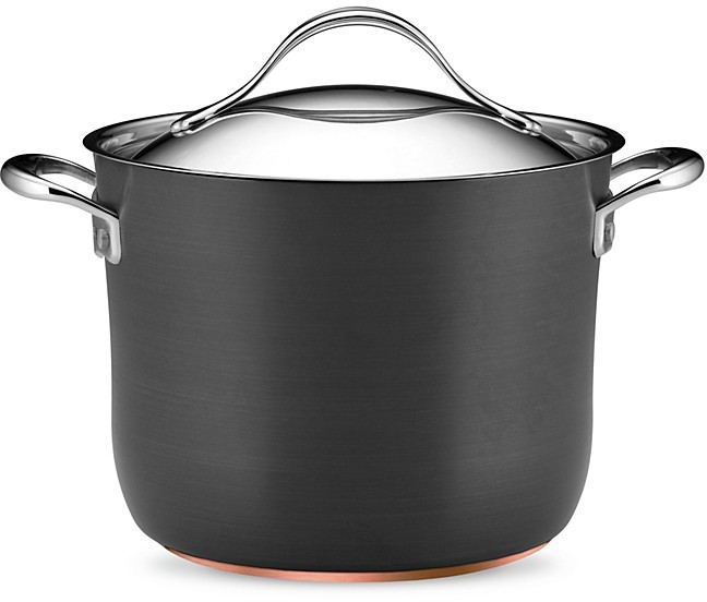 Anolon Nouvelle Hard Anodized 8-Quart Covered Stock Pot