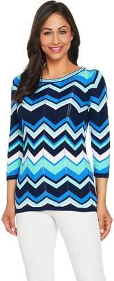 Susan Graver Cotton Rayon Striped Sweater