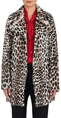 Barneys New York Women's Leopard-Print Fur Swing Coat