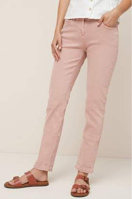 Next Womens Pink Relaxed Skinny Jeans - Pink