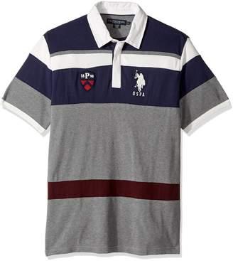 cfe1e57254e6 U.S. Polo Assn. Men s Classic Fit Color Block Short Sleeve Pique Polo Shirt