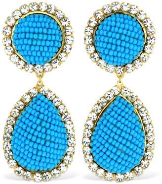 Shourouk Bananitas Blue Earrings