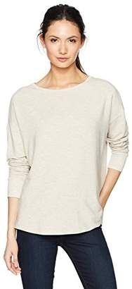 Majestic Filatures Women's French Terry Long Sleeve Drop Shoulder Boat Neck