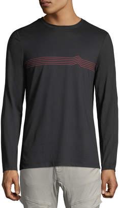 Pe360 Men's Long-Sleeve Chevron Graphic T-Shirt