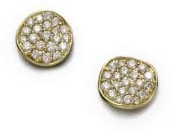 Ippolita Stardust Diamond& 18K Yellow Gold Small Stud Earrings