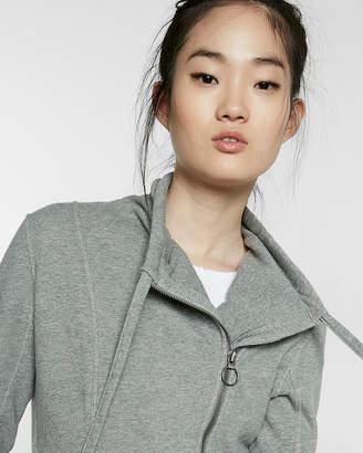 Express Gray Cropped Asymmetrical Utility Jacket