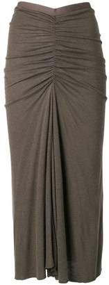 Rick Owens Lilies ruched design skirt
