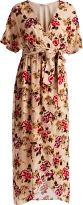 Alice + Olivia Clarine Wrap Maxi Dress