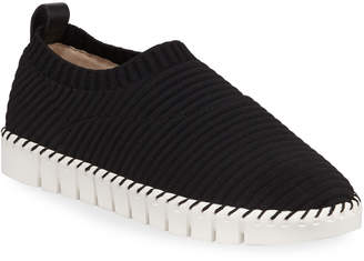 Neiman Marcus Play Stretch Knit Slip-On Sneakers