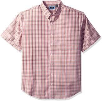 Arrow Men's Big and Short Sleeve Hamilton Plaid Shirt