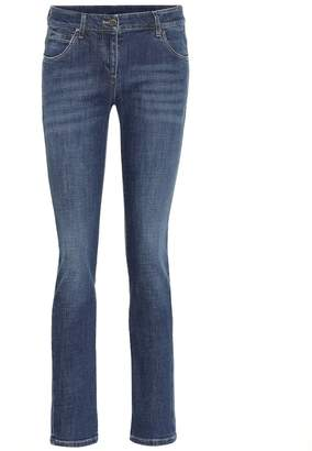 Brunello Cucinelli Embellished low-rise skinny jeans