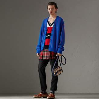 Burberry Reissued Striped Wool Cardigan
