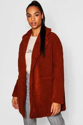 boohoo Tall Teddy Faux Fur Coat