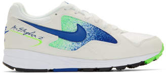 Nike White and Blue Air Skylon II Sneakers