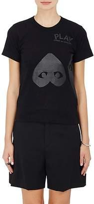Comme des Garcons Women's Heart Cotton T-Shirt - Black