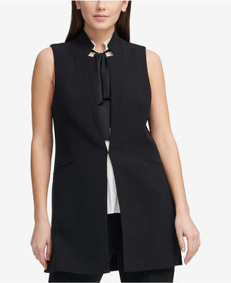 DKNY Collarless Vest, Created for Macy's