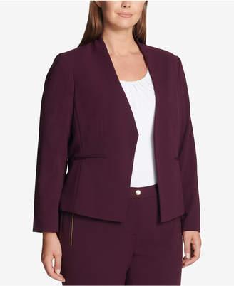 Calvin Klein Plus Size Asymmetrical Jacket