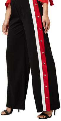 Yumi London - Black Side Button Trousers
