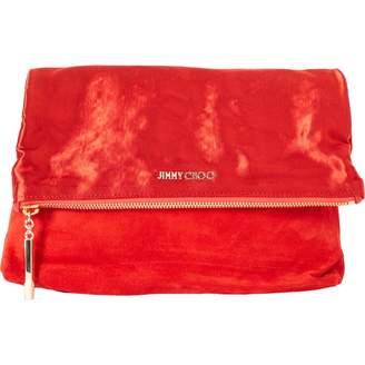 Jimmy Choo Red Suede Clutch Bag