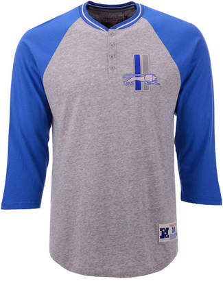 Mitchell & Ness Men Detroit Lions Four Button Henley T-Shirt