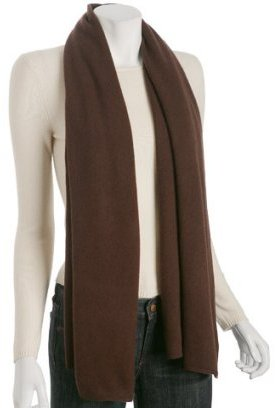 Magaschoni brown cashmere pringle scarf