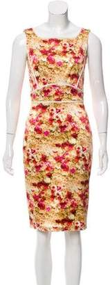 Zac Posen Floral Print Knee-Length Dress