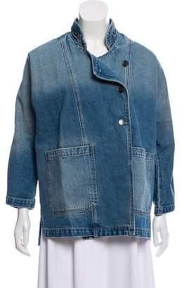 Current/Elliott Crosby Asymmetrical Denim Jacket w/ Tags