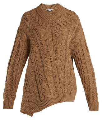 Stella McCartney Oversized Virgin Wool Blend Sweater - Womens - Camel