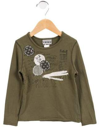Ikks Girls' Long Sleeve Graphic Top