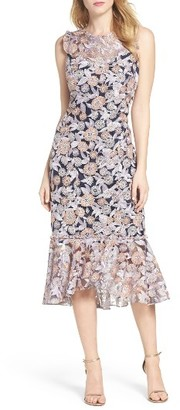Women's Shoshanna Barlett Lace Midi Dress $570 thestylecure.com