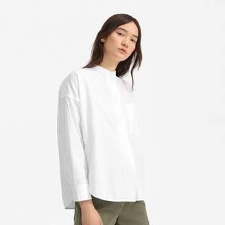 Everlane The Poplin Collarless Popover Shirt