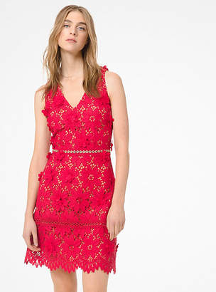 Michael Kors Floral Applique Lace Dress