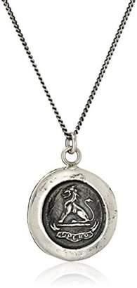 Pyrrha talisman Sterling Lion Necklace