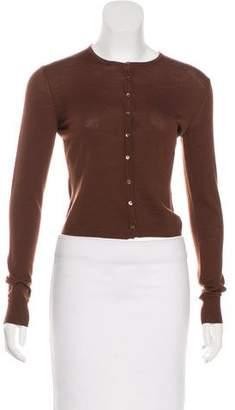Alaia Button-Up Knit Cardigan