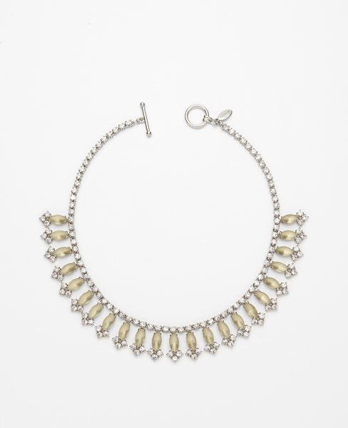 Crystal and Marquis Statement Necklace